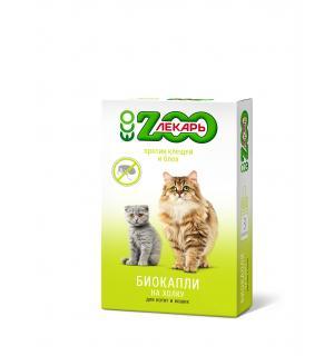БИОкапли на холку ZOOЛЕКАРЬ для кошек, 3 пип.