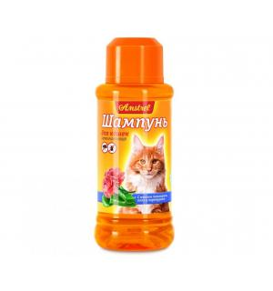 Шампунь Amstrel для кошек антипаразитарный с маслом пальмарозы, алоэ  и экстр. пиретрума, 120 мл