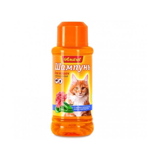 Шампунь Amstrel для кошек антипаразитарный с маслом пальмарозы, алоэ  и экстр. пиретрума, 320 мл
