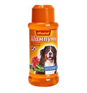 Шампунь Amstrel для собак антипаразитарный с маслом пальмарозы, алоэ  и экст. пиретрума, 320 мл