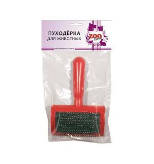 Пуходерка Zooexpress пластмассовая средняя с каплей 8*16см