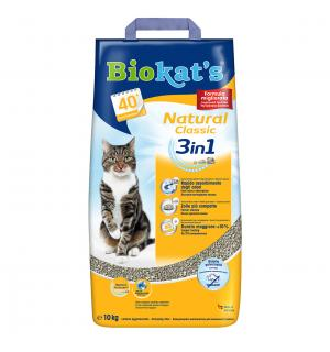 Наполнитель BIOKATS Natural Classic три вида гранул: крупные, средние, мелкие. 100% натуральная глина (10 кг)