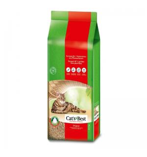 Наполнитель древесный комкующийся CATS BEST Original, гранулы, суперпоглащение влаги (20 л)