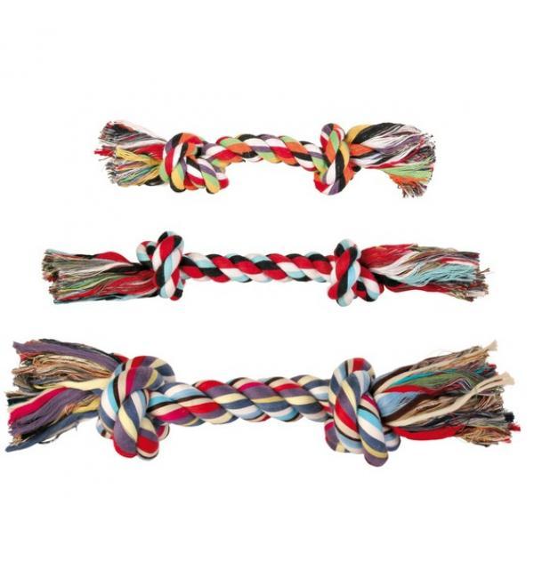 """Игрушка TRIXIE  для собаки """"DENTAfun"""" в виде верёвки с 2 узлами, хлопковая 470г/40 см"""