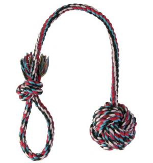 """Игрушка TRIXIE  для собаки """"DENTAfun"""" в виде верёвки с узлом и ручкой 30г/5,5"""