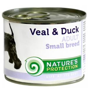 Консервы  Natures Protection для собак мелких пород, с телятиной и уткой (0,2 кг)