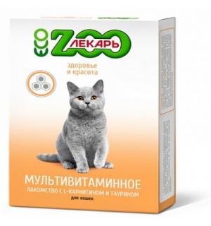 Витамины ZooЛекарь здоровье и красота кошек и котов 90 таблеток