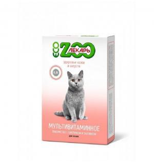 Витамины ZooЛекарь здоровье кожи и шерсти кошек и котов 90 таблеток
