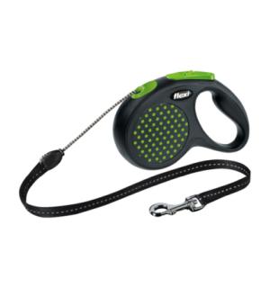 Рулетка-поводок Flexi DESIGN XS трос 3м зеленая