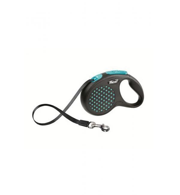 Рулетка-поводок Flexi New Classic XS лента 3м синяя