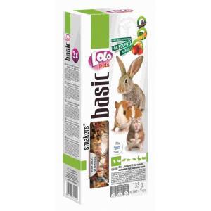 Smakers® 3 в 1 Lolo Pets для хомяка (фрукты/овощи/плоды рожкового дерева) (0,135 кг)