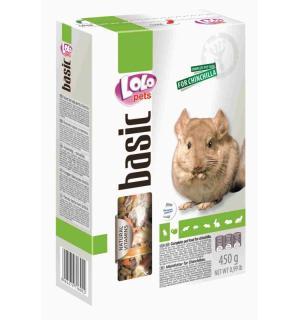 Полнорационный корм Lolo Pets для  шиншилл (0,45 кг)