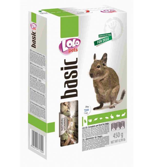 Полнорационный корм Lolo Pets для  дегу (0,45 кг)