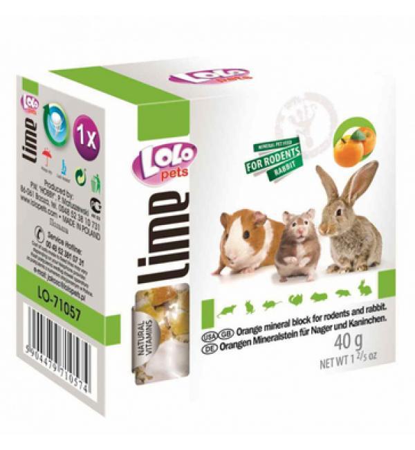 Минеральный камень Lolo Pets для грызунов, апельсиновый (0,04 кг)