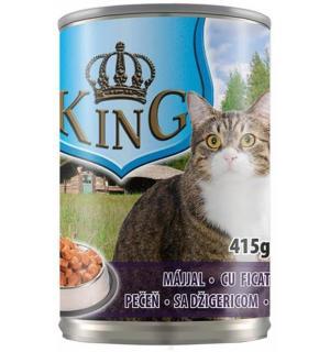 Консервированный корм King Cat для кошек, с печенью (0,415 кг)