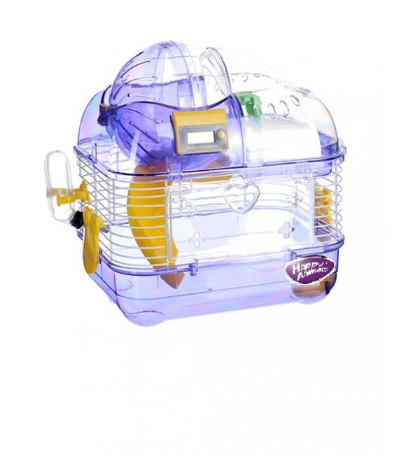 Клетка Happy Animals с КОМПЬЮТЕРОМ для хомяков и др. мелких грызунов, пластик + подарочная коробка