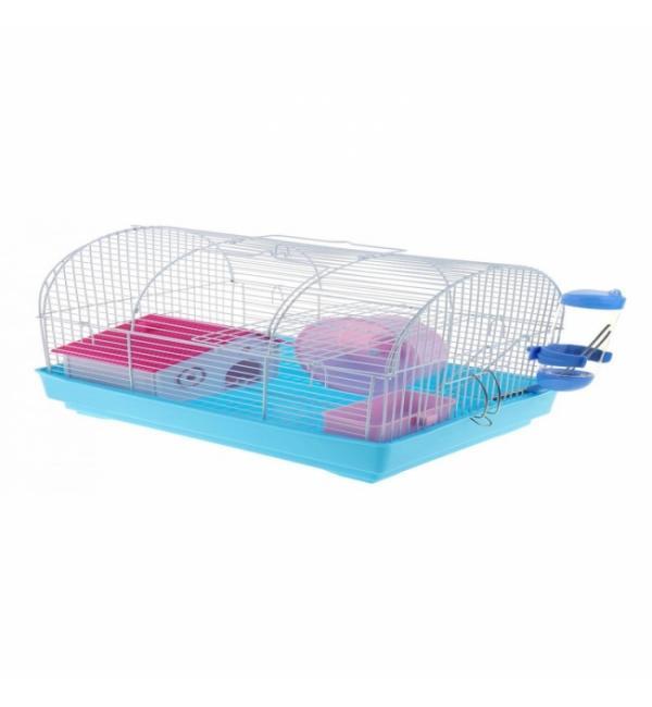 Клетка для грызунов Panama Pet бело-голубая