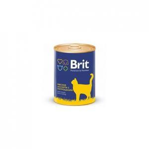 Консервы Brit для кошек, мясное ассорти с потрошками (0,34 кг)