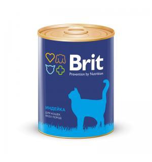 Консервы Brit для кошек, индейка (0,34 кг)