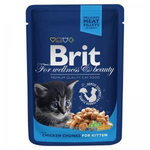 Влажный корм Brit Premium для котят, курица (0,1 кг)