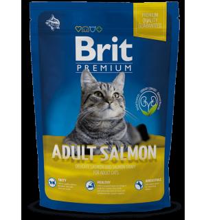 Сухой корм Brit для взрослых кошек, с лососем в соусе (1,5 кг)