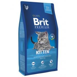 Сухой корм Brit Premium для котят, с курицей в лососевом соусе (1,5 кг)