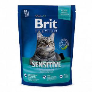 Сухой корм Brit Premium для кошек с чувствительным пищеварением, с курицей (1,5 кг)