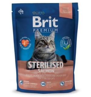 Сухой корм Brit Premium для кастрированных котов, с лососем (1,5 кг)