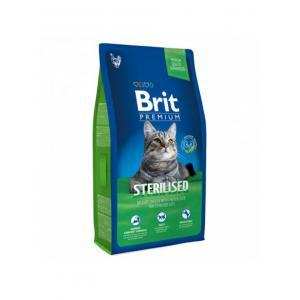 Сухой корм Brit Premium для кастрированных котов, курица и печень (1,5 кг)