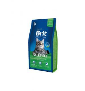 Сухой корм Brit Premium для кастрированных котов, курица и печень (8 кг)