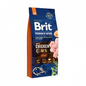 Сухой корм Brit by Nature для взрослых собак с высокими затратами энергии (15 кг)