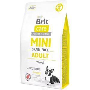 Беззерновой корм Brit Care MINI GF для мини собак, ягненок (2 кг)