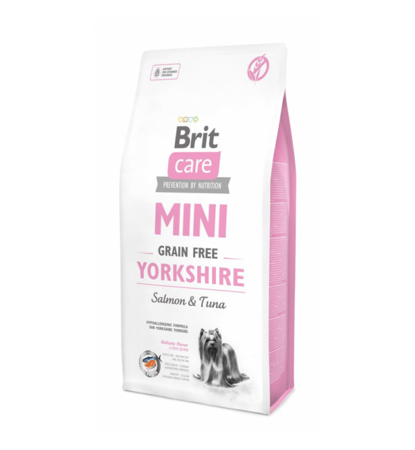 Беззерновой корм Brit Care MINI GF для йоркширских терьеров (2 кг)