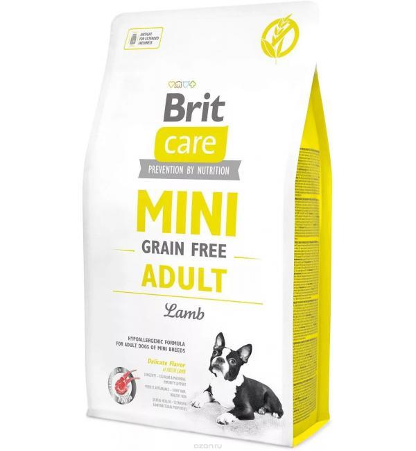 Беззерновой корм Brit Care MINI GF для мини собак, ягненок (7 кг)