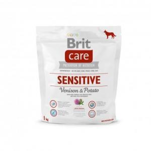 Сухой корм Brit Care для собак с чувствительным пищеварением, оленина с картофелем (1 кг)