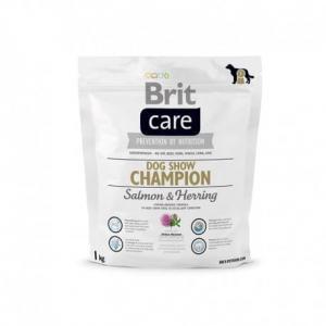 Сухой корм Brit Care для выставочных собак, лосось и сельдь с рисом (1 кг)