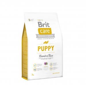 Сухой корм Brit Care для щенков всех пород, ягненок с рисом (3 кг)
