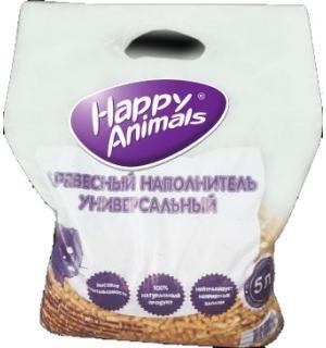 Древесный наполнитель Happy animals 2,3 кг (5 л)