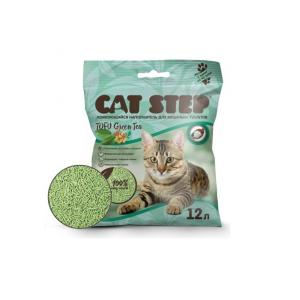 Наполнитель Cat Step Tofu Green Tea, растительный комкующийся (12 л)