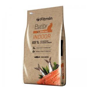 Беззерновой корм Fitmin Cat Purity Indor для взрослых кошек, живущих в доме (0,4 кг)