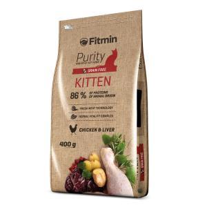 Беззерновой корм Fitmin Cat Purity Kitten для котят до 12 месяцев, беременных и кормящих кошек (0,4 кг)