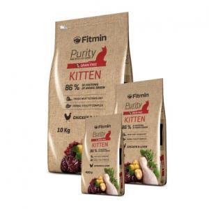 Беззерновой корм Fitmin Cat Purity Kitten для котят до 12 месяцев, беременных и кормящих кошек (1,5 кг)