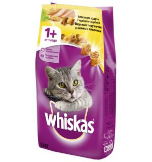 Сухой корм Whiskas для взрослых кошек