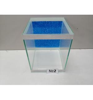 Аквариум с фоном  кубик, 10 л