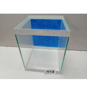Аквариум с фоном  кубик, 15 л