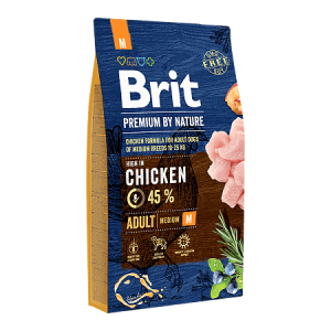 Сухой корм Brit by Nature для взрослых собак средних пород (1 кг)