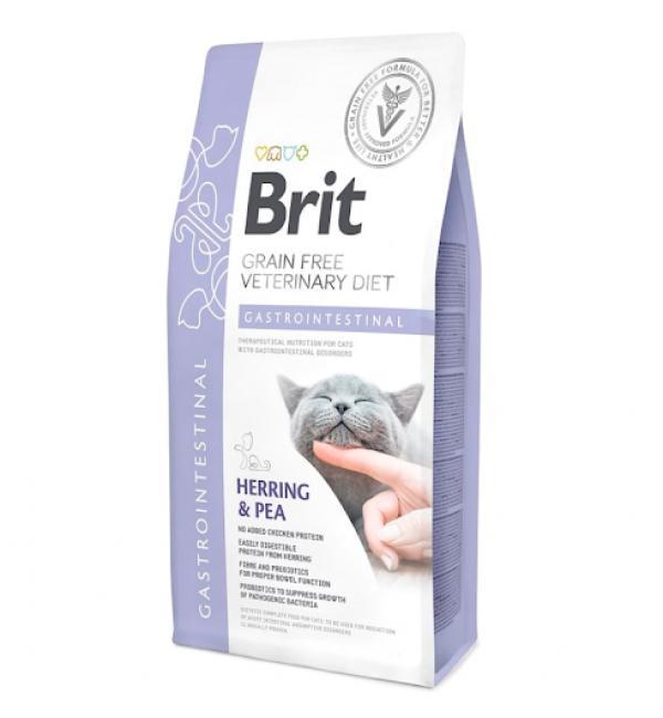 Brit VDC Gastrointestinal Herring&Pea, беззерновая диета при остром и хроническом гастроэнтерите для кошек (2 кг)