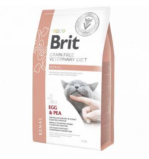 Brit VDC Renal Egg&Pea, беззерновая диета при заболеваниях почек для кошек (400 г)