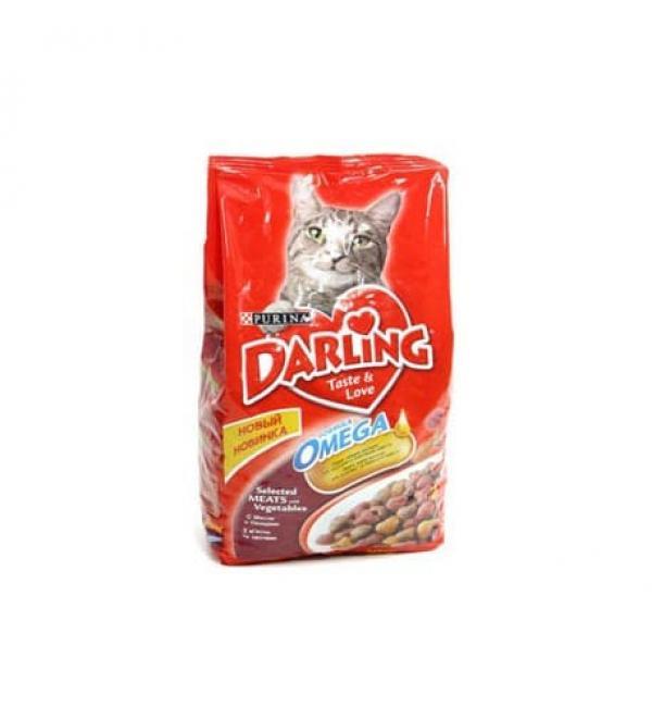 Сухой корм Darling для взрослых кошек, с мясом по-домашнему и овощами (2 кг)