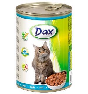 Консервы для кошек Dax, кусочки с рыбой (415 г)